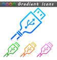 usb plug symbol icon vector image