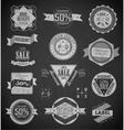 Vintage labels set design elements vector image vector image