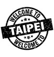 welcome to taipei black stamp vector image vector image