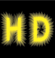 Yellow smoke volume label on a black background vector image vector image