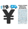 Yen Icon with 1000 Medical Business Pictograms vector image vector image