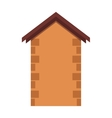 House or real estate silhouettes with brown brick vector image