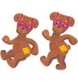teddy bear with sunglasses vector image