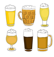 beer pints series vector image