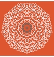 Ornamental mandala on seamless pattern vector image