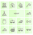 14 heavy icons vector image vector image