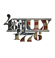 4th of July 1776 Cut Out vector image vector image