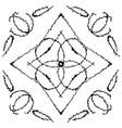 a set of frames with original zigzag ornaments vector image vector image