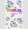 abstract foam soap water bubbles isolated vector image