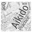 aikido exercise teaching training Word Cloud vector image vector image
