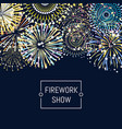 banner or poster fireworks background vector image vector image