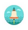 Bell marine icon Summer vector image vector image
