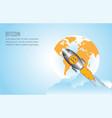 bitcoin growth conceptual with bitcoin logo vector image vector image