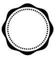 black and white circle pattern vector image