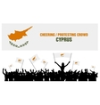 Cheering or Protesting Crowd Cyprus vector image vector image