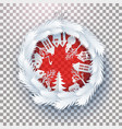 christmas decorated ball on transparent vector image vector image