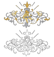 Coat of arms with cherub vector image vector image