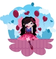 cute love fairy cartoon vector image vector image
