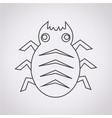 cyber bug icon vector image vector image