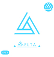 Delta letter logo template vector image vector image