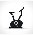 exercise bike black icon vector image vector image