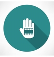 film in hand icon vector image
