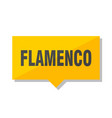 flamenco price tag vector image vector image