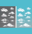 fog smoke and cloud isolated transparent special vector image vector image