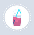 fresh beverage cocktail glass icon unhealthy vector image vector image