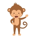 funny monkey character isolated icon design vector image vector image