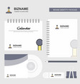gear box logo calendar template cd cover diary vector image