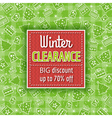 green christmas background and sale label vector image
