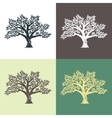 Hand drawn graphic argan trees set vector image vector image