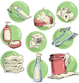 Hand-drawn hygiene elements vector image