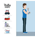 healthy habits lifestyle vector image vector image