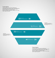 Hexagonal infographic template consists of four