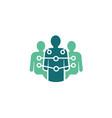 human tech logo vector image
