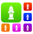 hydrant set collection vector image vector image