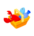 icon seafood vector image vector image