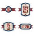 independence day festive labels set vector image vector image