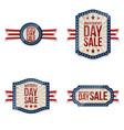 independence day festive labels set vector image