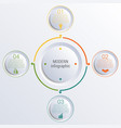 infographic diagram with 4 options circles vector image