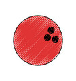 isolated bowling ball vector image