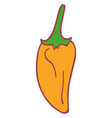 isolated flat pepper vector image vector image
