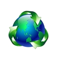 Isolated of a clean green blue planet recycl vector image vector image
