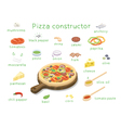 isometric set of ingredients to build custom tasty vector image vector image