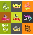 Lifestyle Quotes collection vector image
