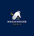 magic house logo icon vector image vector image