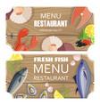 menu restaurant premium set vector image vector image
