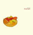 mix fruit tart pastry vector image vector image